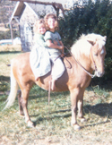 Barb, Meadow on her pony Lightfoot